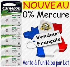 Piles boutons SR60W G1 364 Oxyde Argent 1,55V 0% Mercure Horlogerie Bijouterie