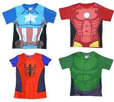 Official Boys Kids T-Shirt Avengers Ultron Hulk Iron Man Captain America Age 2-7