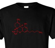 T SHIRT THC MOLECULE TETRAHYDROCANNABINOL DRUGS MARIJUANA DOPE CHEMISTRY GEEK