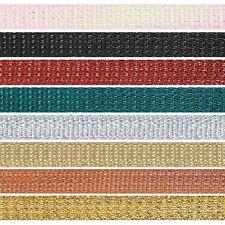 3mm x 2m, 5m or 20m Berisfords Textured Metallic Polyester Craft Ribbon