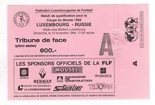 Orig.Ticket    WM Q. 10.11.1996    LUXEMBURG - RUSSLAND