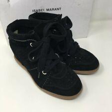ISABEL MARANT Bobby Suede Wedge Sneakers Trainers -Black - UK 3, UK 4, UK 7,UK 8