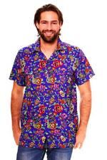 Funky Camisa Hawaiana Skull Multi Azul