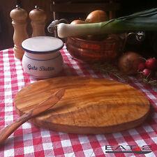 Olivenholz Schneidebrett Vesperbrett Brotzeitbrett Frühstücksbrett Holz