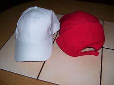 CAP Fitted Cap, Basecap, Sonnenkappe, rot oder weiß, uni, one size, unisex, Neu!