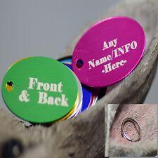 Engraved Pet Tags Dog Cat ID personalised Bone round cir black Shape ring collar