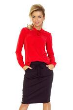 140-3 Numoco elegantes trendiges Businesshemd mit Bindung rot