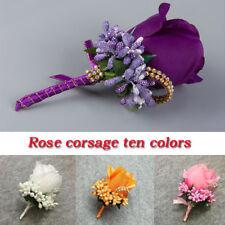 Artificial Flower Groom Boutonniere Corsage Suit Decor Party Wedding Supplies