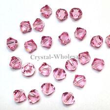 3mm Light Rose (223) pink Genuine Swarovski crystal 5328 XILION Bicone Beads