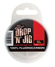 Fox Rage Drop & Jig Fluorocarbon 50m Vorfachschnur Raubfischvorfach Vorfach