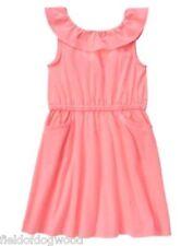 NEW Gymboree Bright and Beachy Dress Girls SZ 5 7 Pink Knit Dress