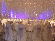 Wedding Backdrop Curtain-Inbuilt Lights, Overlay,Swags & Stand(6x3m)+ 22ft skirt