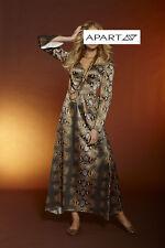 Langes Satin-Kleid. Apart. Khaki-Multicolor. NEU!!! KP 119,- € SALE%%%