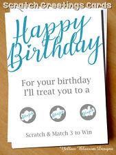 Funny Scratch Birthday Card Husband Boyfriend Rude Naughty Greetings For Him Fun