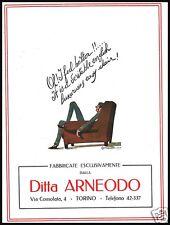 PUBBLICITA' 1924 POLTRONE DITTA ARNEODO TORINO STYLE ARREDAMENTO LUSSO CAVASANTI