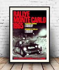 Rallye monte carlo 1965, reproduction motor racing poster, wall art.