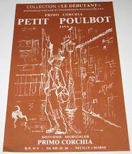 Partition vintage sheet music PRIMO CORCHIA : Petit Poulbot * Accordéon