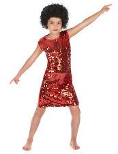 Déguisement disco fille rouge à paillettes Cod.214564
