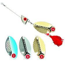 Spinner Gepard con testa di piombo, materie tessili esca luccio, persico, spigola, frecce, esca