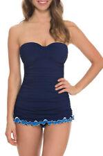 Profile Gottex Swimdress Skirted Swimsuit Womens NWT $140 Blue Lagoon