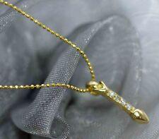 SCHMUCKSET  750 GOLD HALSKETTE 40cm + ANHÄNGER 750 GOLD mit DIAM.  0,07ct    NEU