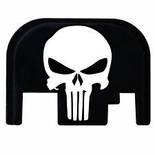 Punisher Slide Plate Cover ALL Generation Glocks Laser Engraved 17 19 21 22 26