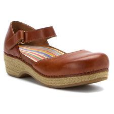 DANSKO Jute MARYJANE Leather CLOGS Sandals SHOES Womens sz Strap PLATFORM Wedges