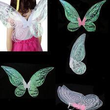 Adult Kids Glitter Color Changing Butterfly Fairy Wings Fancy Dress