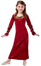 Niñas Dama De Las Princesas De Palacio Tudor Medieval Fancy Dress Costume edad 3-10
