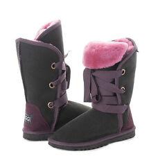 "Dance / Roxy Short Lace Up Ugg Boots 30cm/12"" high Premium Australian Sheepskin"