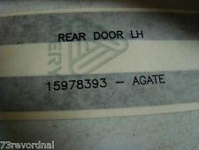 GM 15978393 1998 98 Astro GMC Safari Van Stripe Rear Door End Gate Agate