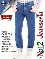 CARRERA Jeans BLUE STONE WASH TELA DOPPIA MISURE 46 48 50 52 54 56 58 60 62