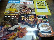 Lot de 6 livres sur la cuisine