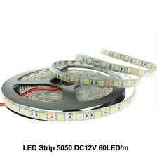 5050 DC12V Flexible LED Light 60LED/m 5m White Warm White RGB 5050 LED Strip