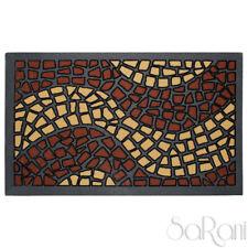 Alfombra Felpudo Caucho Entrada Resistente Mosaico Marrón Noir Cabello Corto