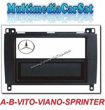 Mascherina Autoradio 1 Doppio Din Mercedes Classe A B Vito Viano Sprinter 3334