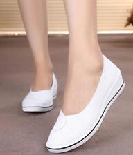 Dancing Mary Jane Slip On Casual Nurse Shoe Women Wedge Heel Canvas Sneaker 8