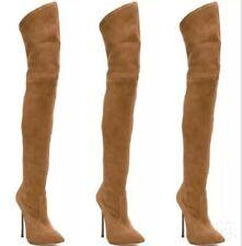 Women Over The Knee Thigh Skinny Boots Stretch High Heel Nightclub Stiletto Club