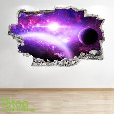 Espacio Pared Adhesivo 3D Look-Moon Planeta Galaxy Stars Niños Dormitorio Z305