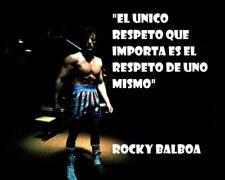 154076 Rocky Balboa Motivational Quotes Art Decor Wall Print Poster