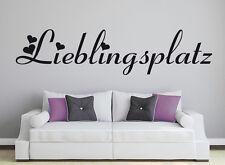 Wandaufkleber: ♥ Lieblingsplatz ♥ Herzen Schlafzimmer Text Wandspruch WandTattoo