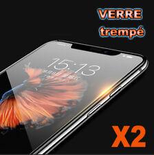 Vitre iPhone X/8/7/SE/6/S/5/C/4 Plus protection verre trempé film protège écran