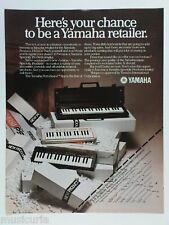 retro magazine advert 1982 YAMAHA keyboards