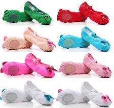 Child Girls High-quality Canvas Ballet Dance Gymnastics Shoe Soft Sole Slippers