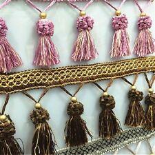 1 Metre Curtain Sewing Fringe Trim Tassel Upholstery Ribbon DIY Craft 15 Colors