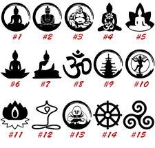 Buddha Vinyl Decal Sticker Car Window Wall Sangha Buddhism Dharma USA Seller