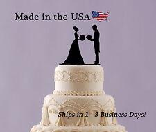 Bride & Groom Cake Topper, Football, Basketball,Sports, Wedding Keepsake- LT1166