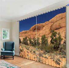 Barren Lands Mountains 3D Blockout Photo Printing Curtains Draps Fabric Window