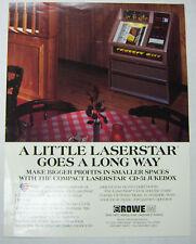 Vintage 1970's Advertising Jukebox Brochure The Laserstar CD-51 By Rowe 052412R