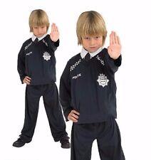 Bambini Poliziotto Costume Uniforme Polizia uomo uniforme di emergenza Costume Età 5-8
